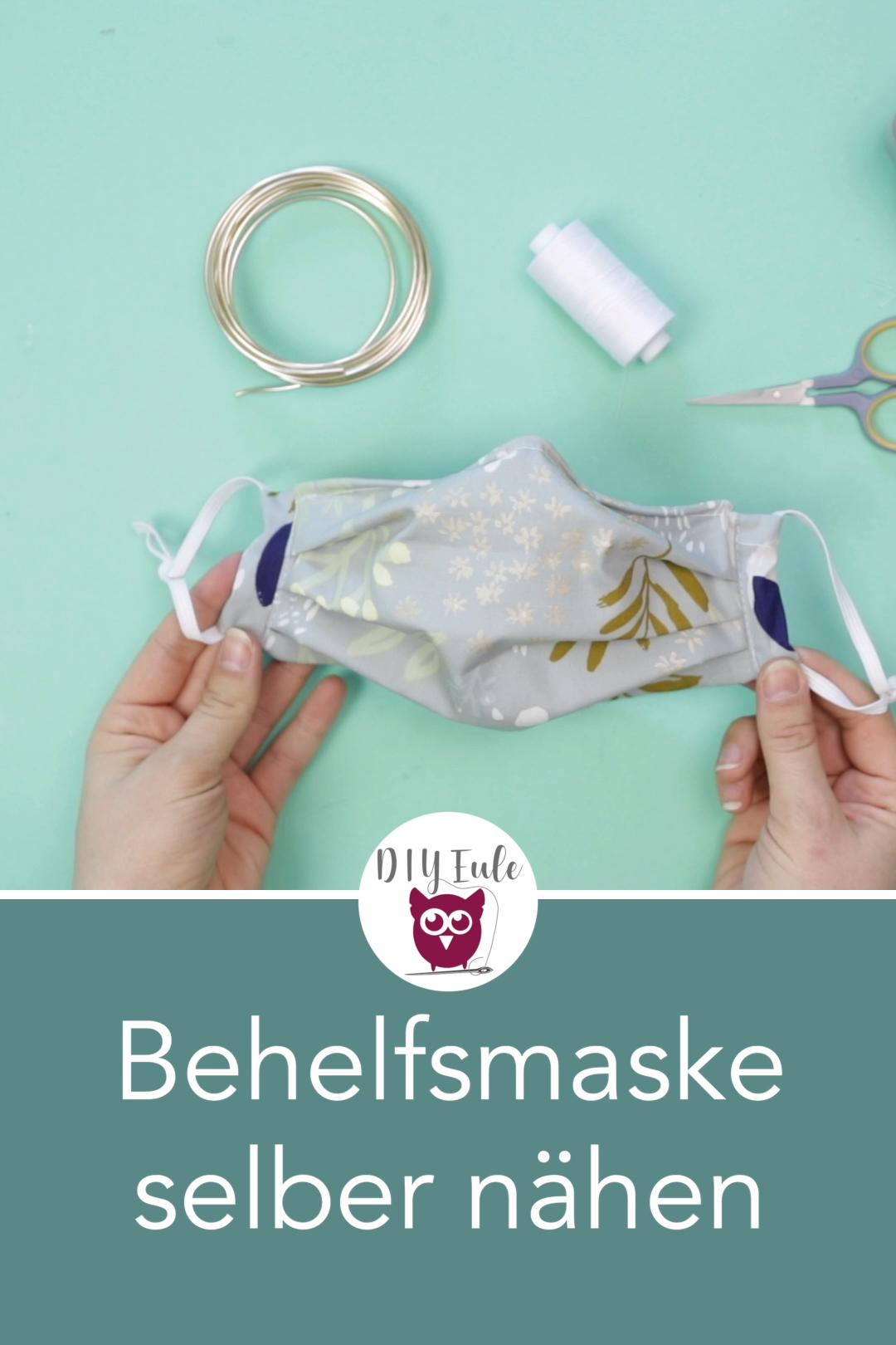 Behelfsmasken selbst nähen in 2020 Masken selber basteln