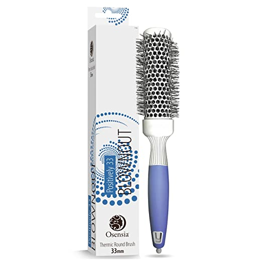 Amazon Com Professional Round Brush For Blow Drying Small Ceramic Ion Thermal Barrel Brush For Sleek In 2020 Heat Styling Products Salon Blowout Round Hair Brush