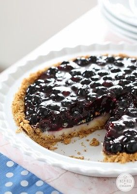 Blueberry Cream Pie - so delicious! Excited for summer fruit recipes!
