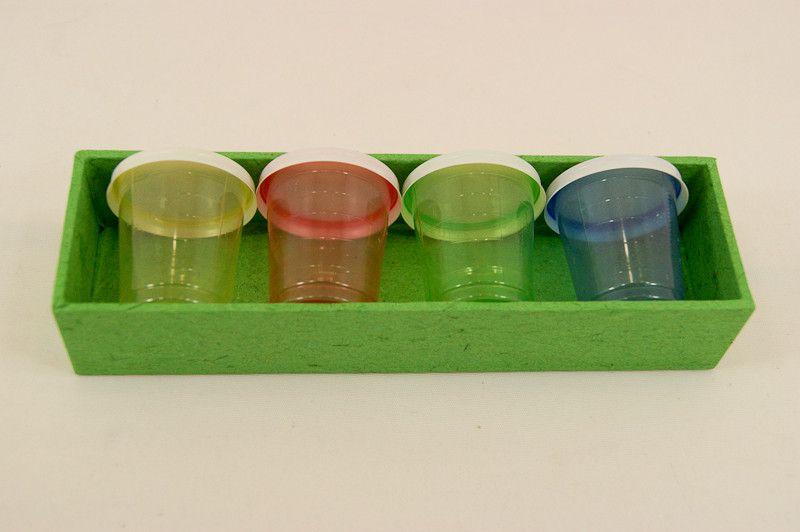 Schubladeneinsatz mit 4 Medizinbechern Farbwahl von Hof Eisenhammer auf DaWanda.com