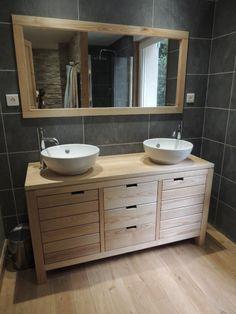 Meuble Salle De Bains Par PP Du Bois And Master Bathrooms - Meuble salle de bain bois gris