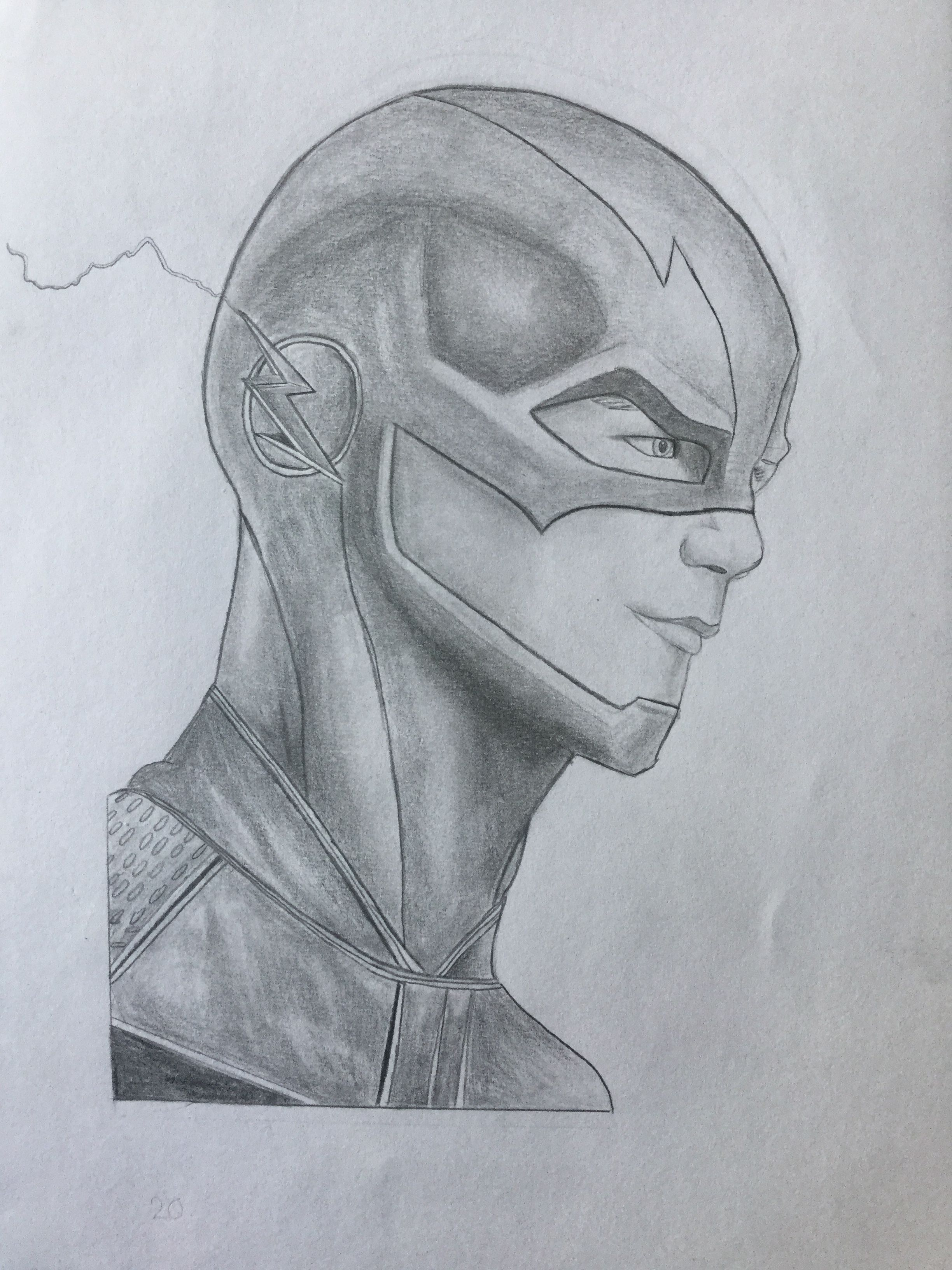 The Flash Line Art : The flash barry allen realistic drawings