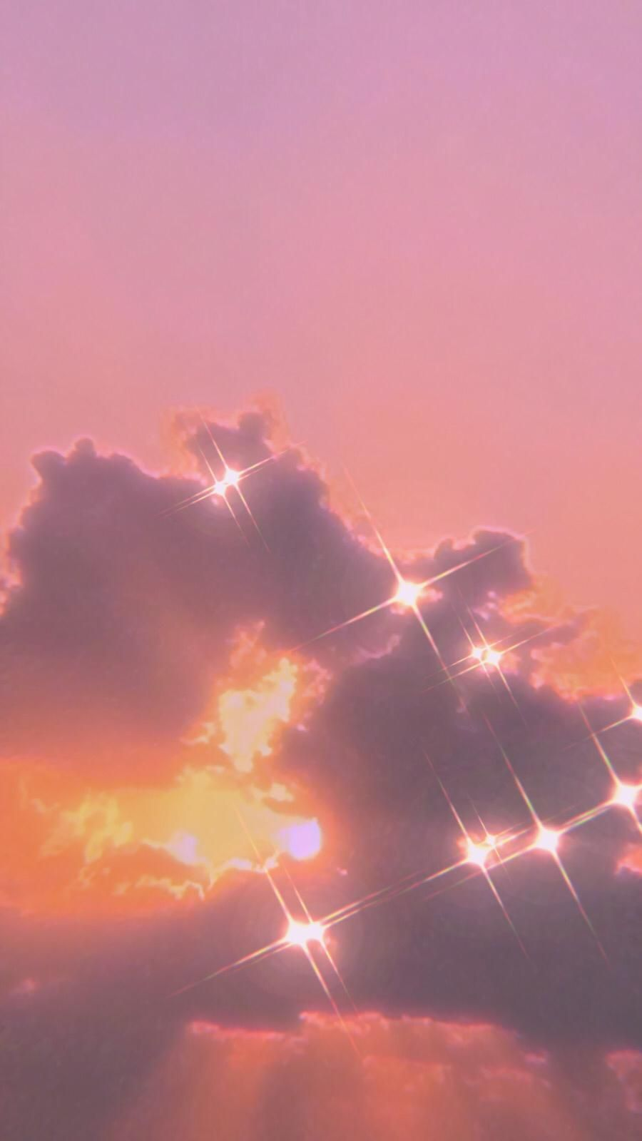 Shiny Clouds Shiny Wallpaper Aesthetic Wallpapers Aesthetic Backgrounds Aesthetic rose gold clouds wallpaper
