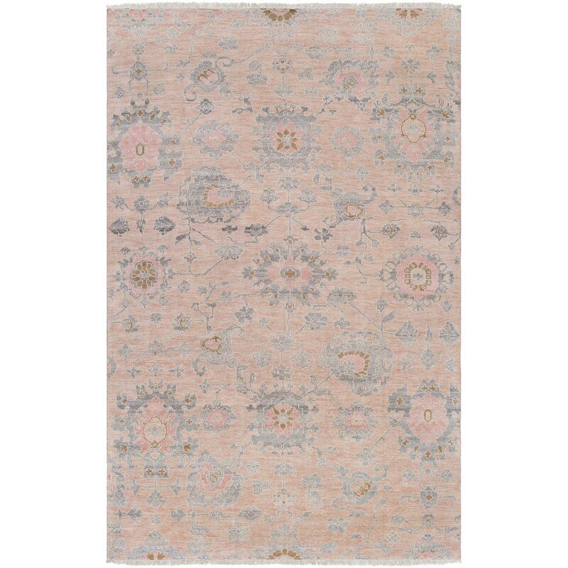 Surya Gorgeous Floral Hand Knotted Beige Pale Pink Area Rug Perigold Pink Area Rug Gorgeous Rug Traditional Area Rugs