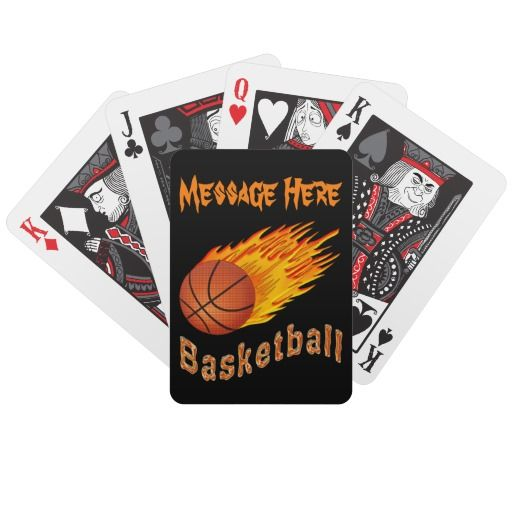 Coolest Personalized Basketball Playing Cards Zazzle Com Personalized Basketball Personalized Basketball Gifts Basketball Team Gifts