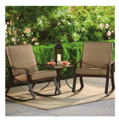 Kroger Catalina 3 Piece Rocker Set Rocking Chair Chair Outdoor Furniture Sets