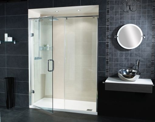 Sculptures Hinged Door Amp Inline Panel Shower Enclosure