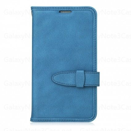 Rock Peace Series Leather Sleeve Flip Cover Case for Galaxy Note 3 N9000 Blue