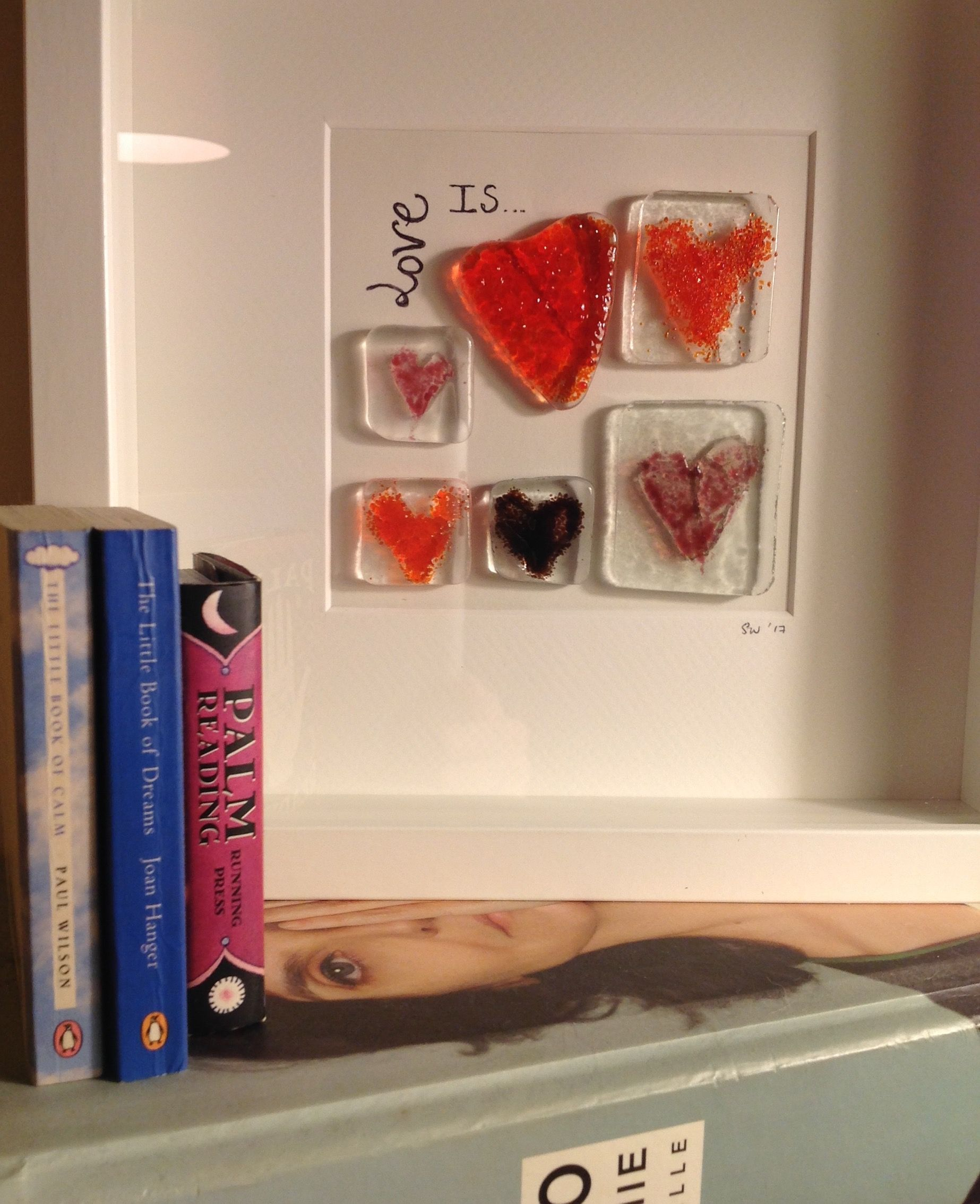 Fused Glass love heart box frame by S.Walsh, Sarah & Mart\'s Art ...