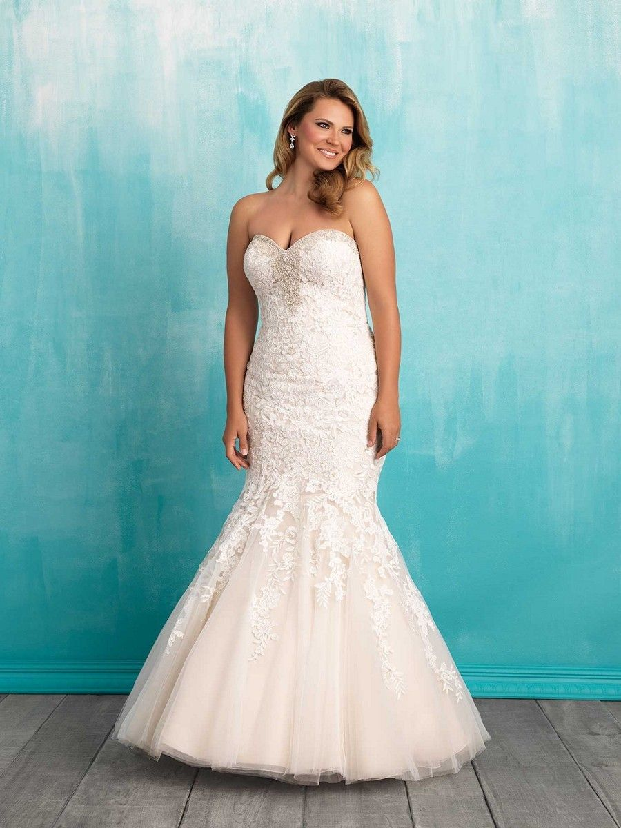 Allure Bridals W371 Plus Size Bridal Gown. #weddingdresses #wedding ...