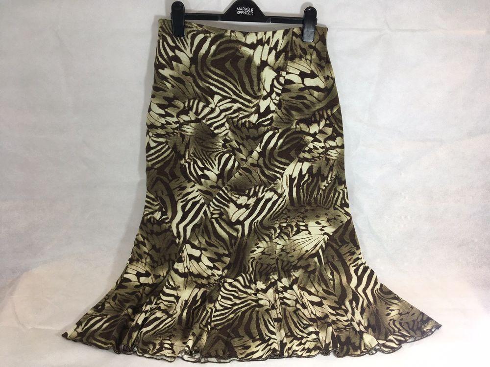 98eda1572d3 Size 12 M   S Per Una Elasticated Waist Animal Print Skirt