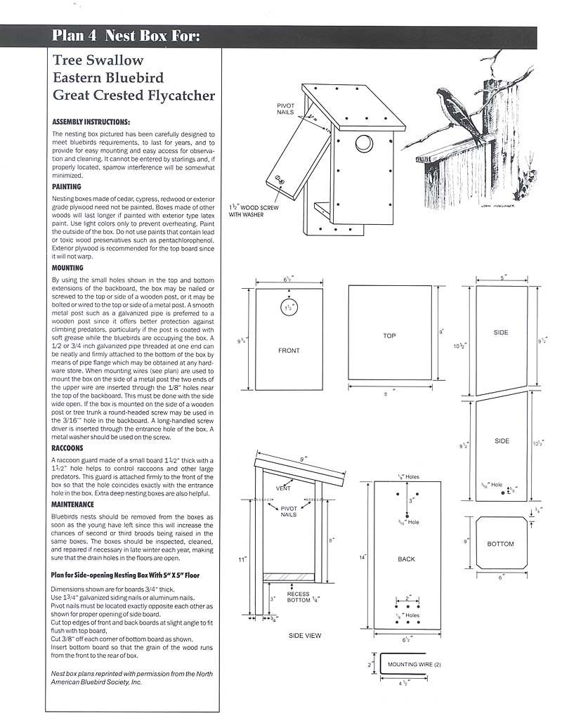 bluebird nest box bluebird house plans how to plan