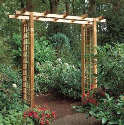 Glorietas gazebos para jardin en madera mobiliario para - Jardines decorados con madera ...