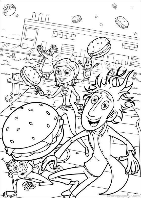 cloudy with a chance of meatballs coloring pages 24