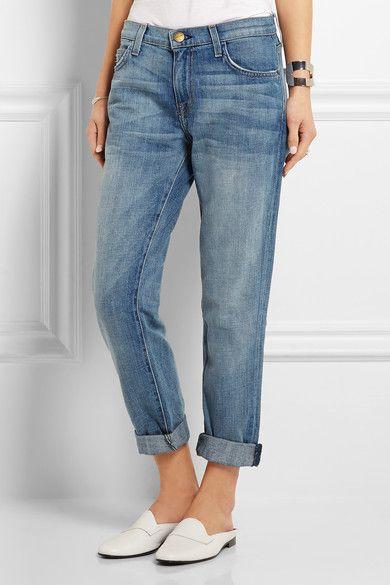 Current/Elliott - The Fling mid-rise slim boyfriend jeans