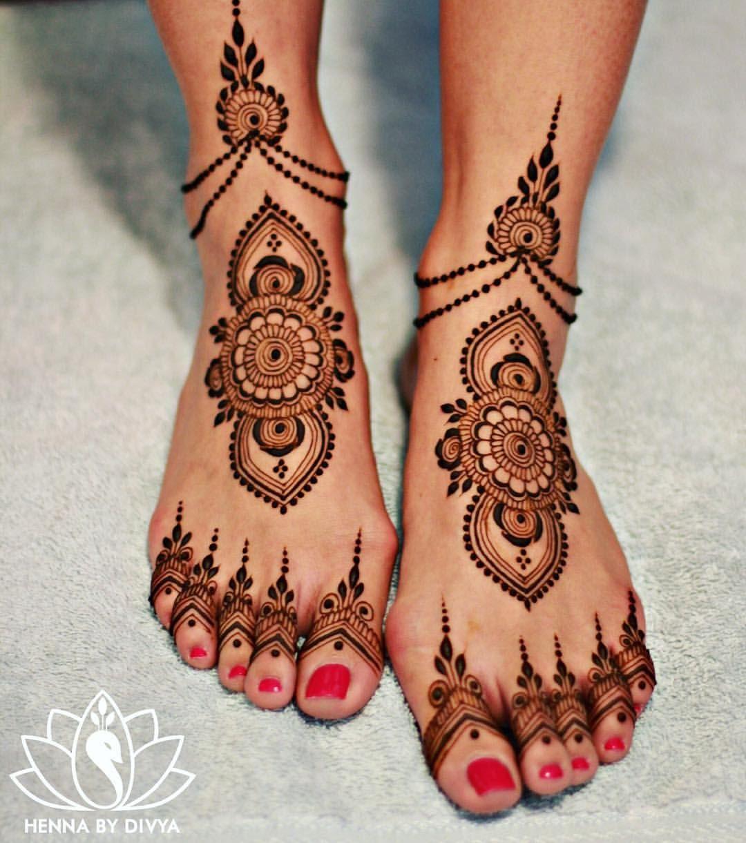 Henna Tattoo Designs On Foot: Pin On Henna & Tattoos