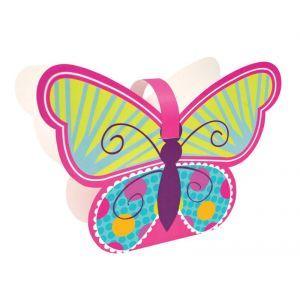 4 Boîtes en carton pour anniversaire enfant représentant un Papillon multicolore #anniversaireenfantpapillon