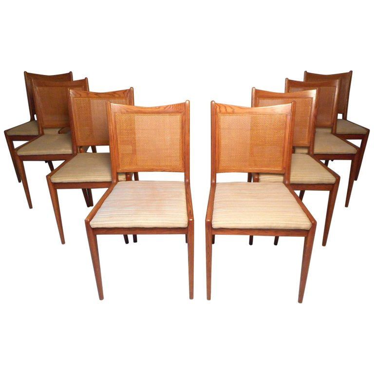 Set Of 8 1stdibs Dining Room Chairs Dining Mid Century Modern
