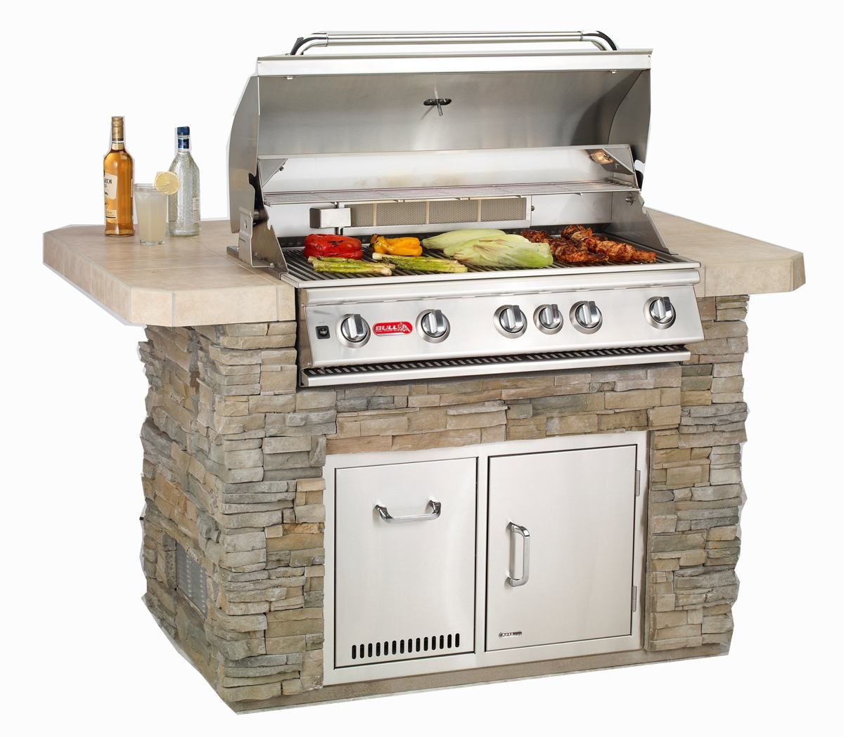 Diy Built In Grill Island Drop In Grill Package Only Includes Grill Island And Accessor Built In Grill Outdoor Kitchen Countertops Outdoor Kitchen Design
