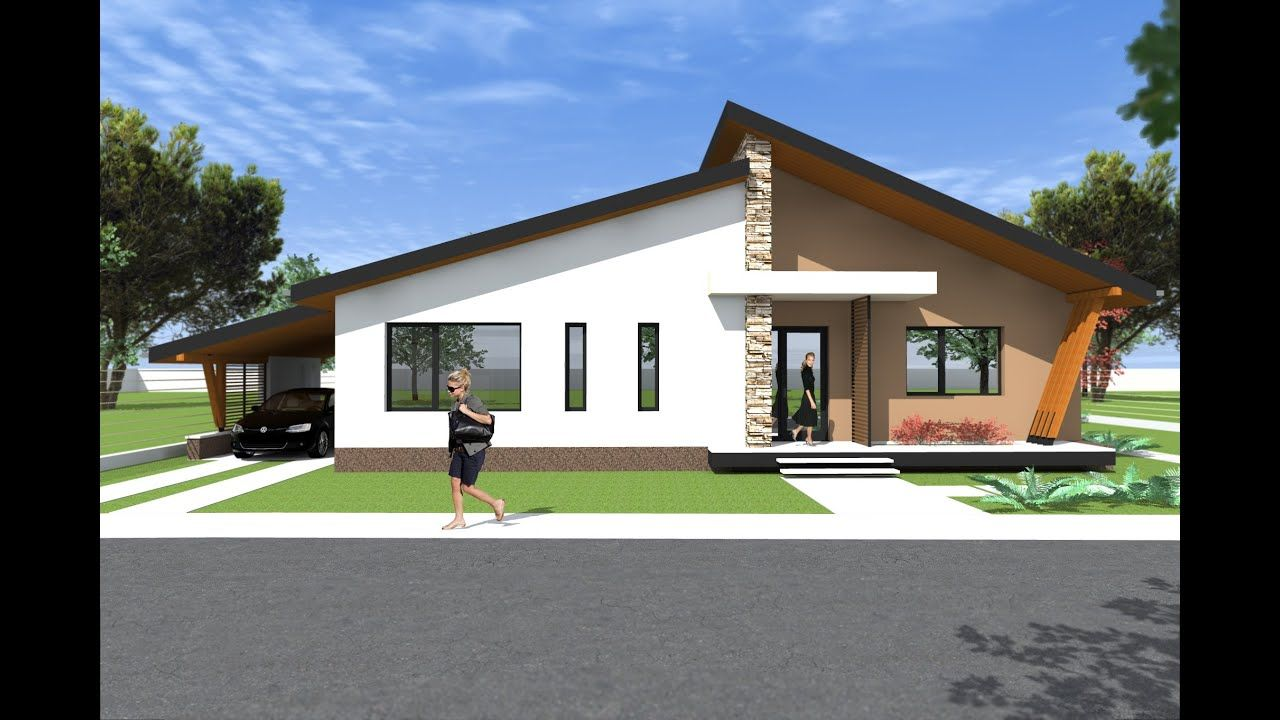 Bungalow House Design 3d Model A27 Modern Bungalows By Romanian Architect Bungalow House Design Unique House Design Bungalow House Plans