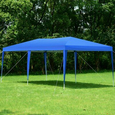 Costway Wedding 20 Ft W X 10 Ft D Steel Party Tent Wayfair In 2020 Party Canopy Event Tent Party Tent