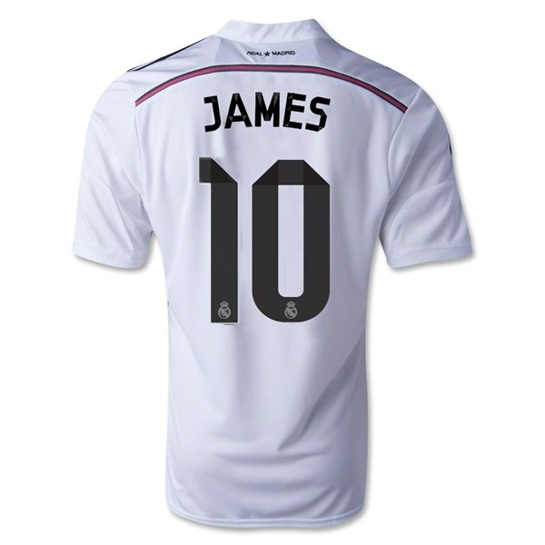 Real Madrid - Home - 2014/15 - Adidas, Fly Emirates - James Rodriguez, 10