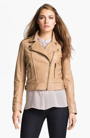 Kenna-T Asymmetrical Leather Jacket available at #Nordstrom