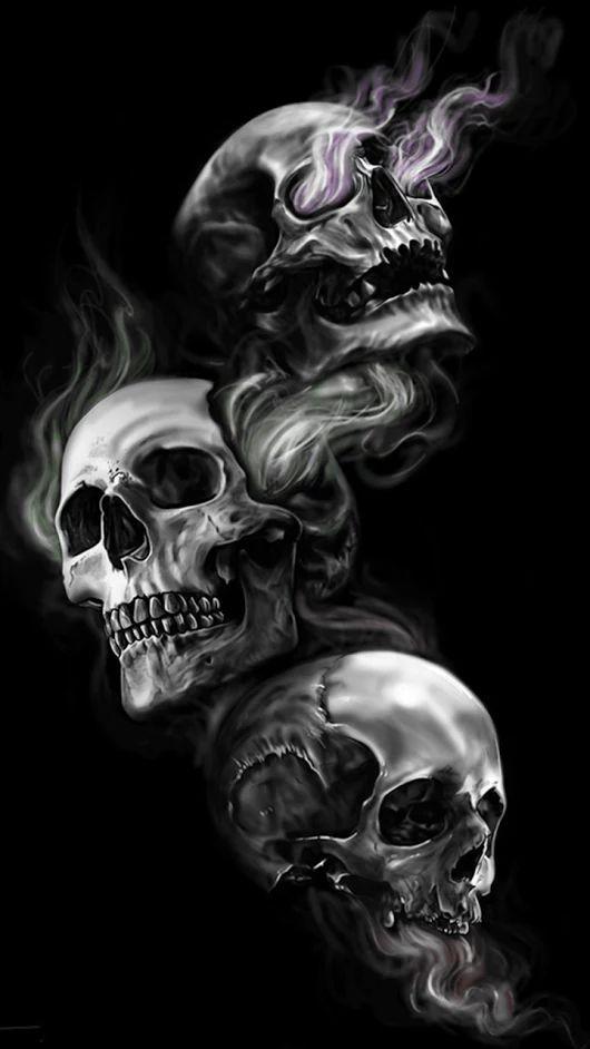 Amazing See No Evil Hear No Evil Speak No Evil Demon Tattoo Design Skull Wallpaper Skull Tattoo Design Skull Artwork