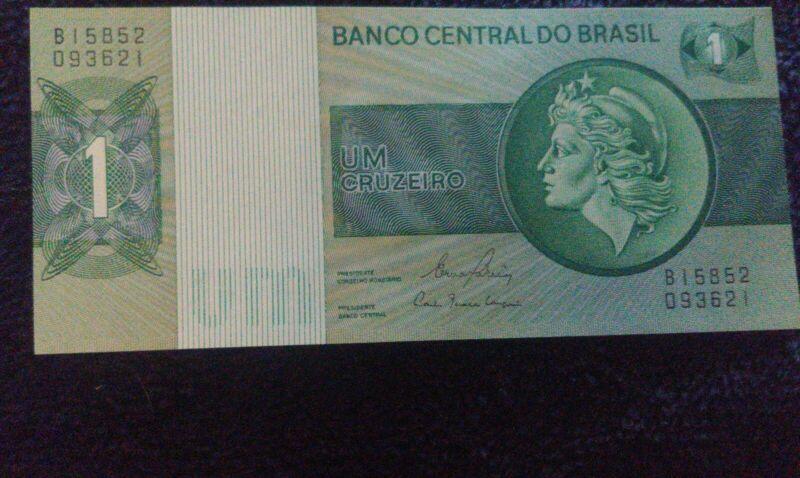 Collecters Item Banco Central Do Brazil Um Cruzeiro Old Money One