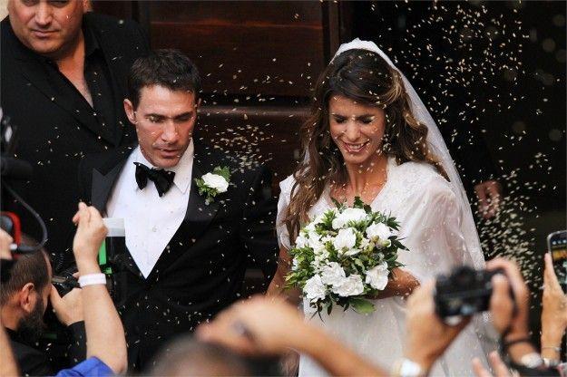7190075fd47d L abito da sposa di Elisabetta Canalis e i look dei vip al matrimonio