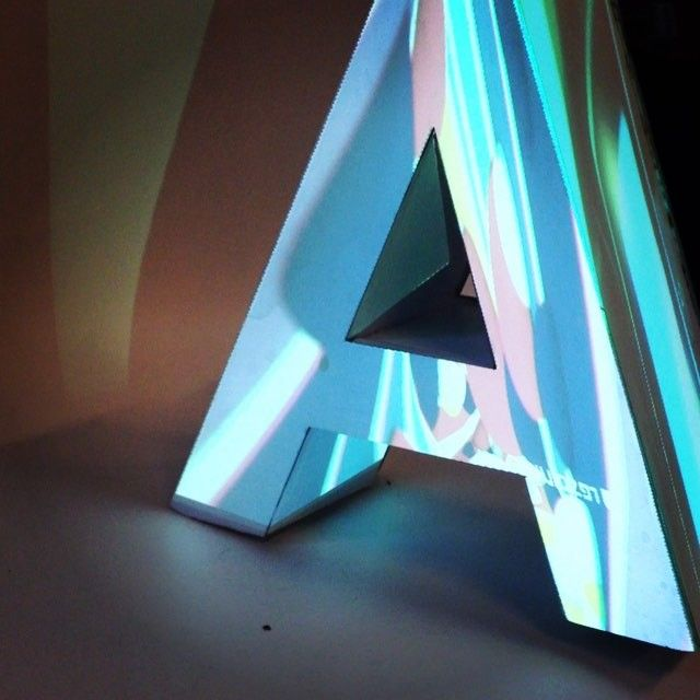 Projection Of Different Visuals On Letter Made With Foam Board Projectionmapping Projection Project Narrati Projection Mapping Visual 3d Typography