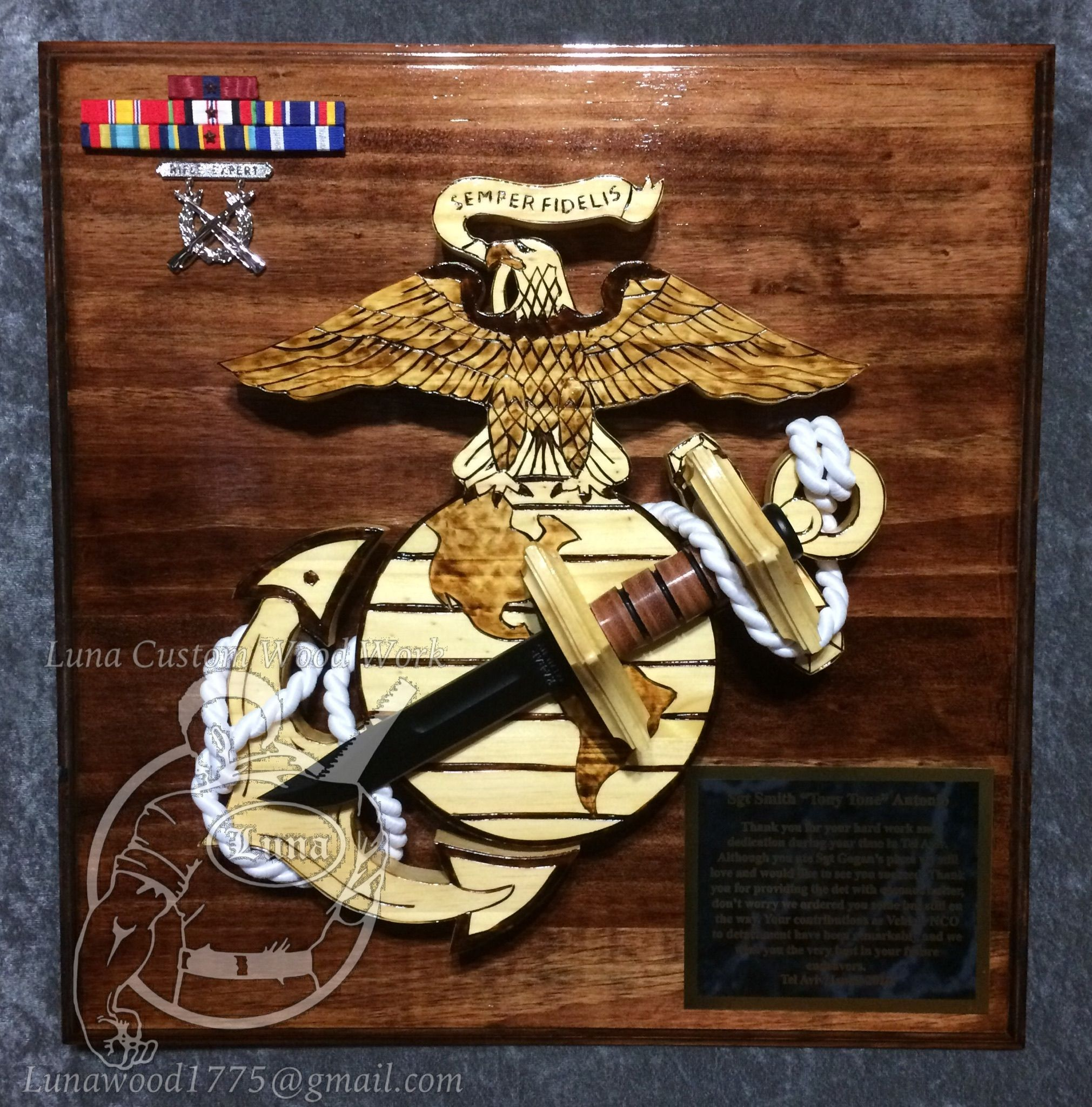 Going Away Quotes For Military Plaques: USMC Plaque Questions On Design Or Price Contact
