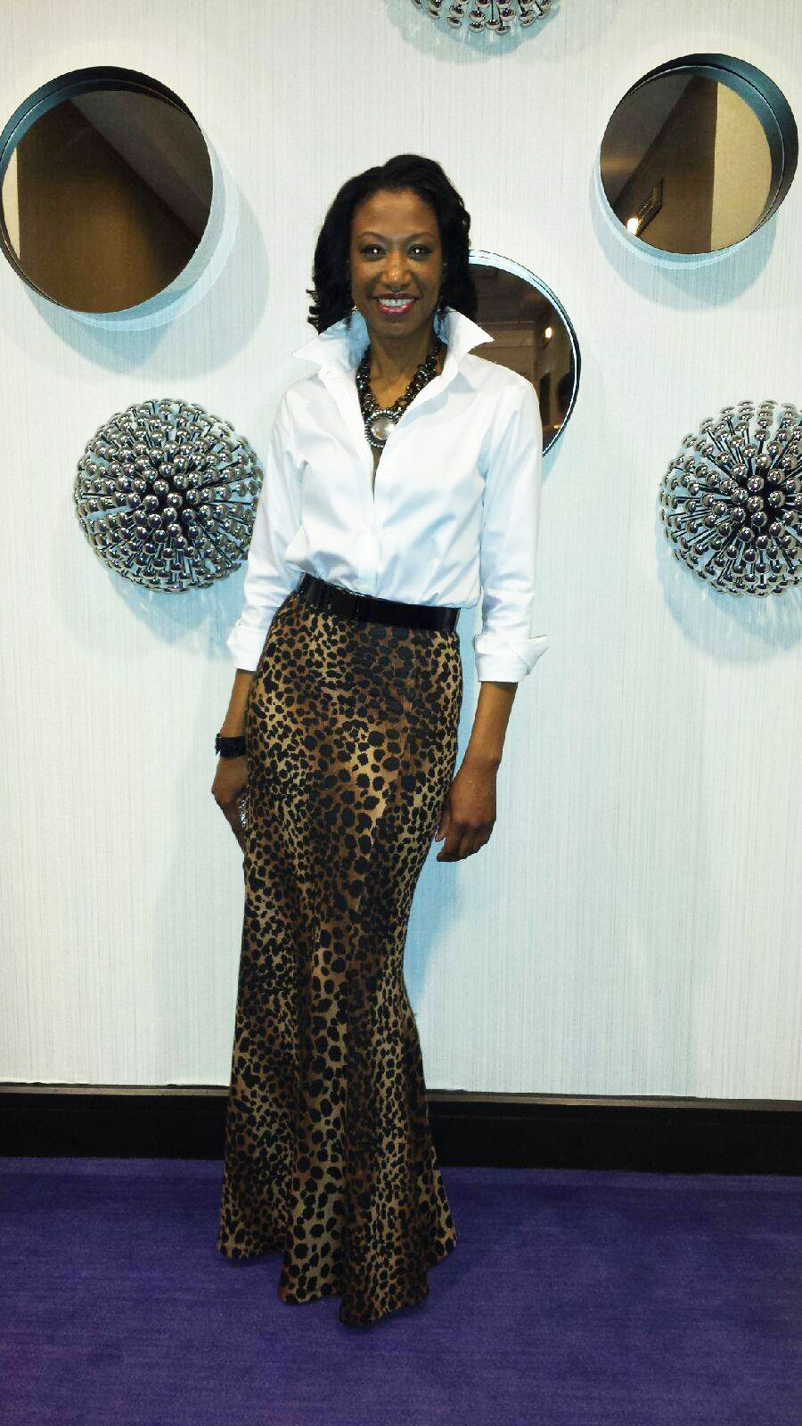 #ShoxieLadies in our Leopard Maxi Skirt!