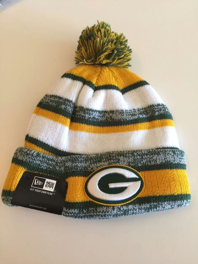 New Era Green Bay Packers Sideline Sport Knit Hat Beanie ONE SIZE ... e670cd7b5b3