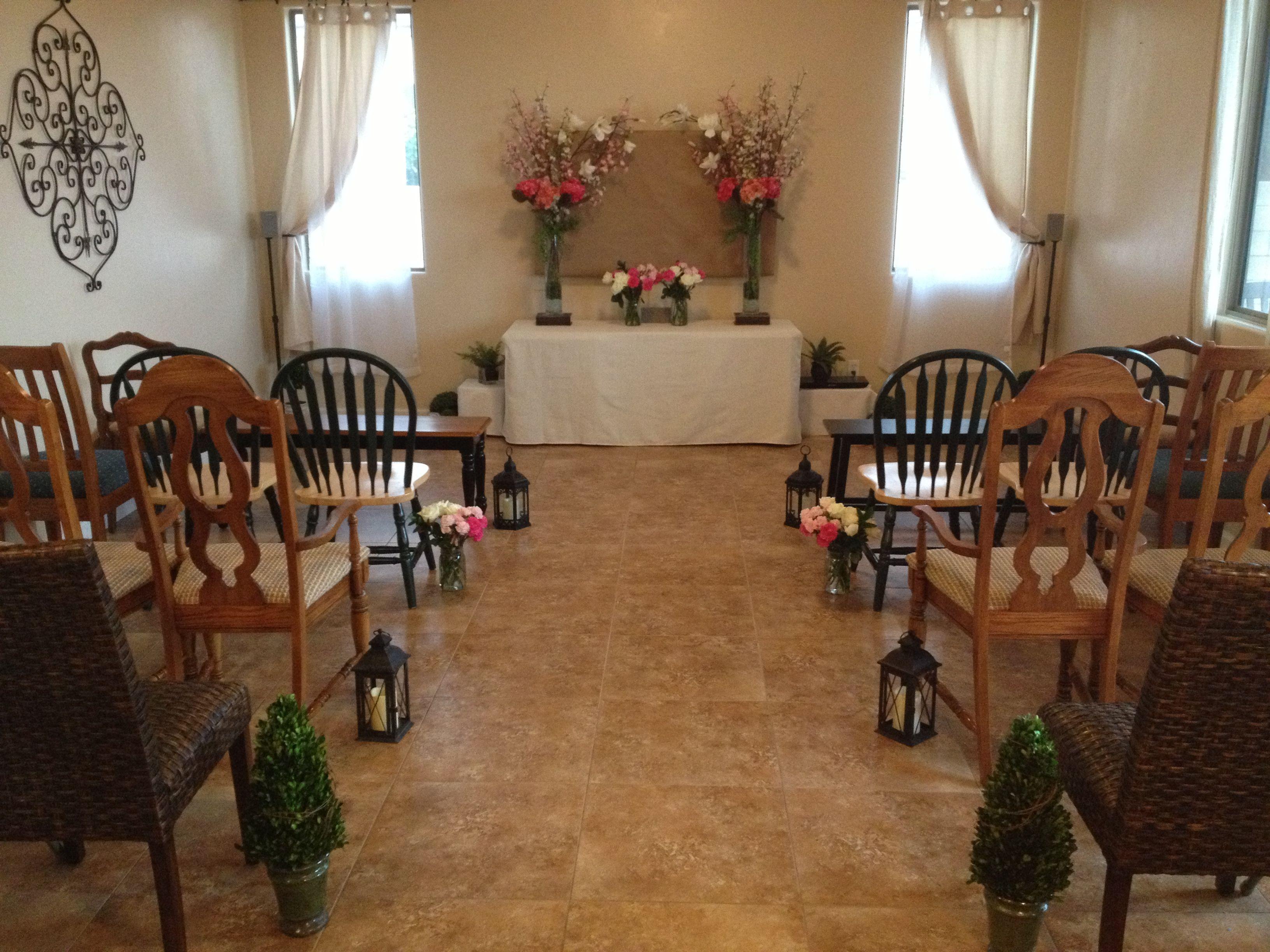 Living Room Wedding | Small intimate wedding, Ceremony ...