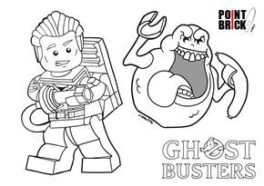 Disegni Da Colorare Lego Ghostbusters E Wall E