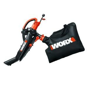 Worx 120 mph 350 CFM 12-Amp Electric Blower/Mulcher/Vac with Metal Impeller