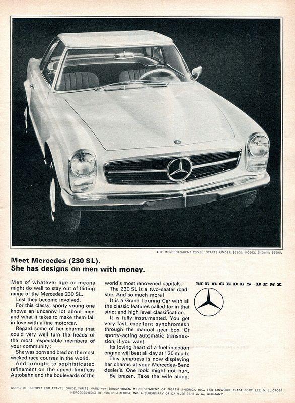1965 Mercedes Benz 230 Sl Advertisement Road Track June 1965 Mercedes Benz Mercedes Benz