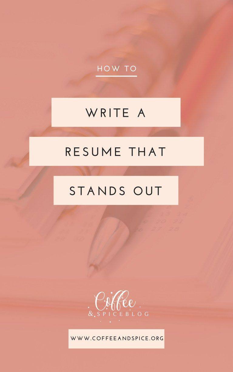 How To Write Out A Resume Fascinating How To Write A Resume That Stands Out  Increase Sales Job Work And .
