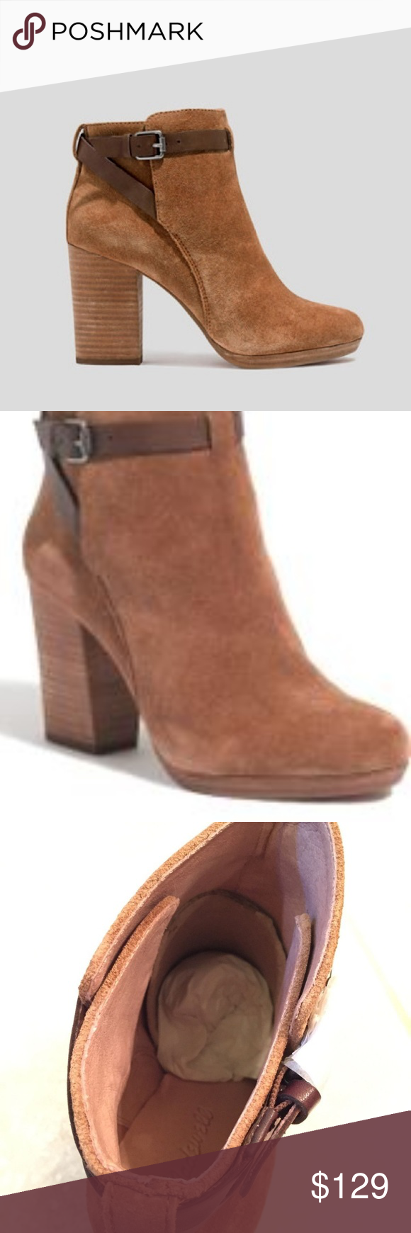 fe5fb39d846 Madewell Suede Heeled Ankle Boots Sz 11 NWB NWT in 2018 | My Posh ...