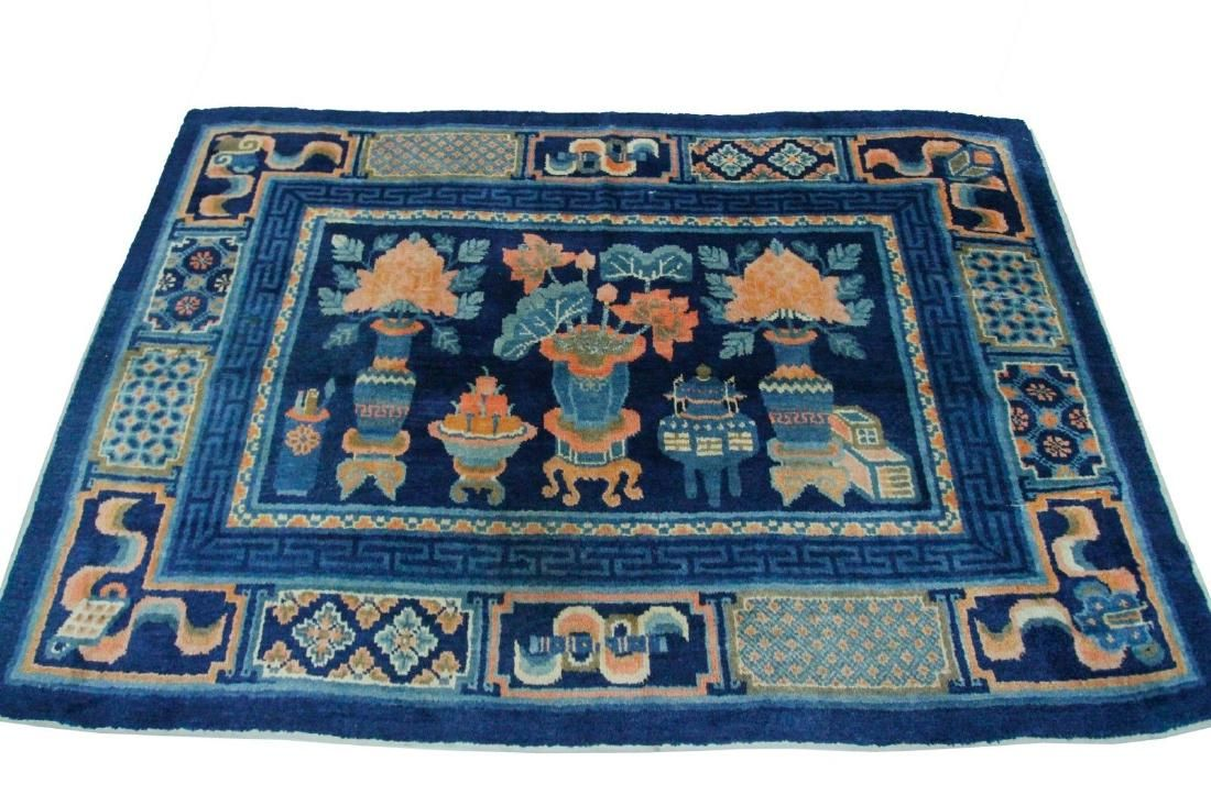 Lot Antique Handmade Chinese Ningxia Rug 4 10x7 6 Lot Number