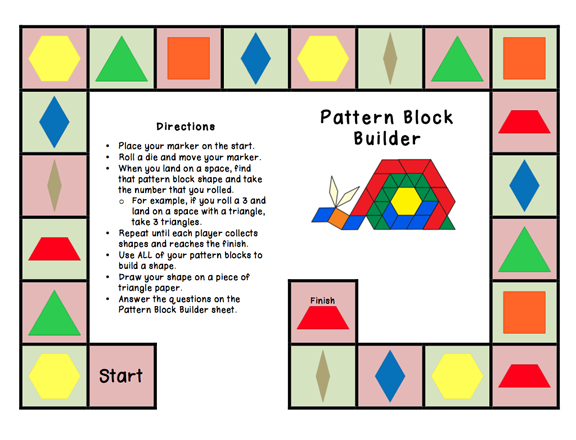 Printables Pattern Block Worksheets 1000 images about pattern blocks on pinterest 2d math work and shape