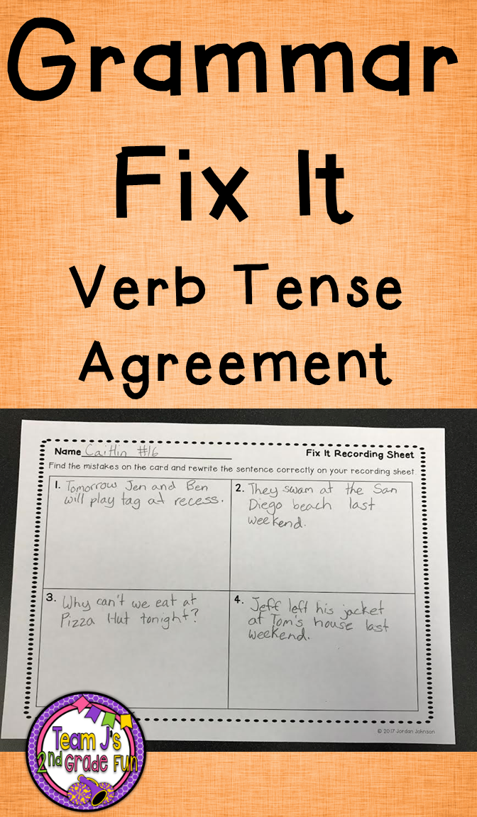 Verb Tense Practice Pinterest Verb Tenses Punctuation And Literacy