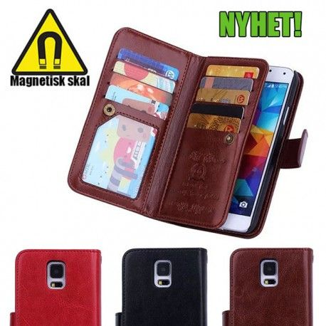 Magnetisk Mobilplånbok 2i1 till Samsung Galaxy S5 578fc1f4a102d
