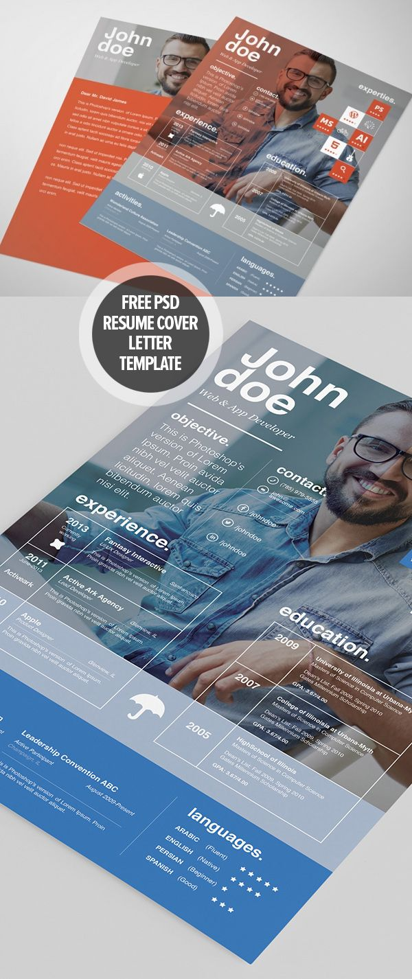 free psd resume and cover letter templates