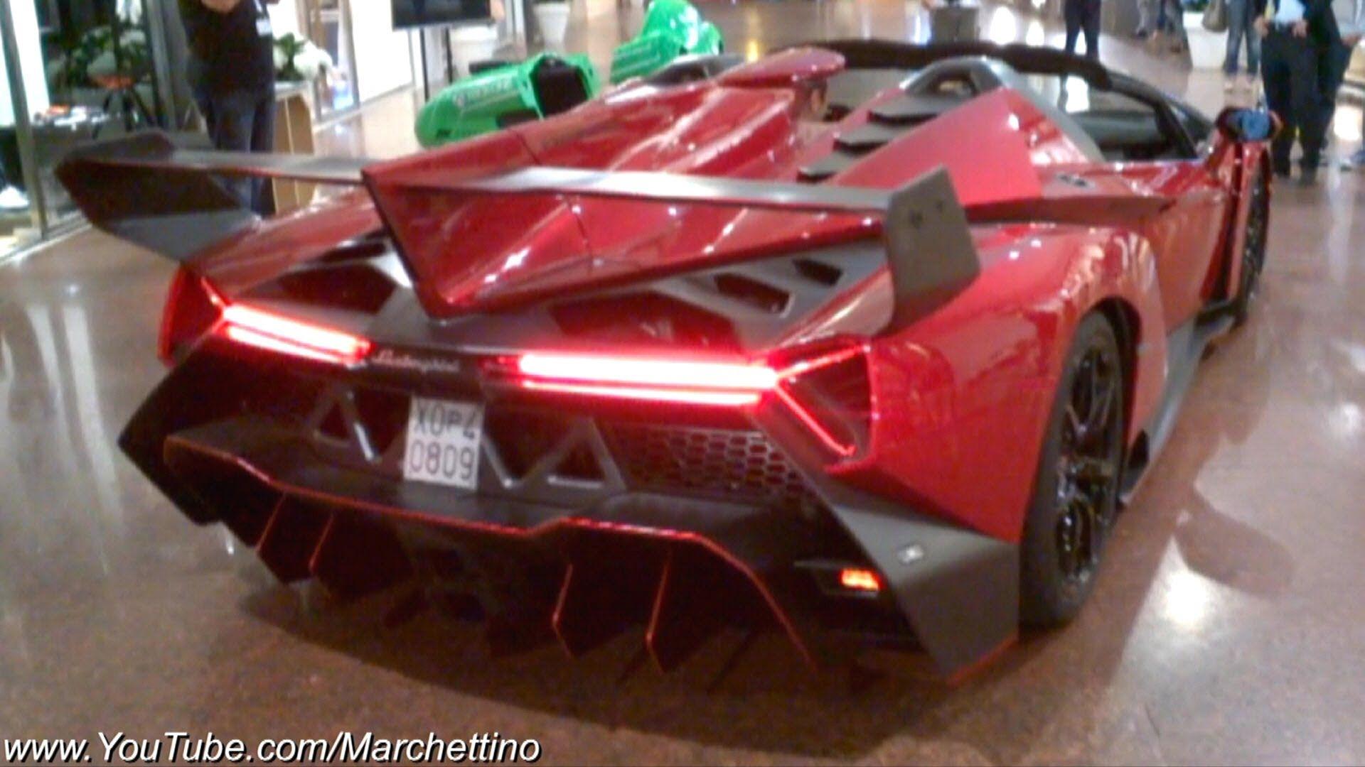 Lamborghini Veneno Roadster Sound Start And Rev