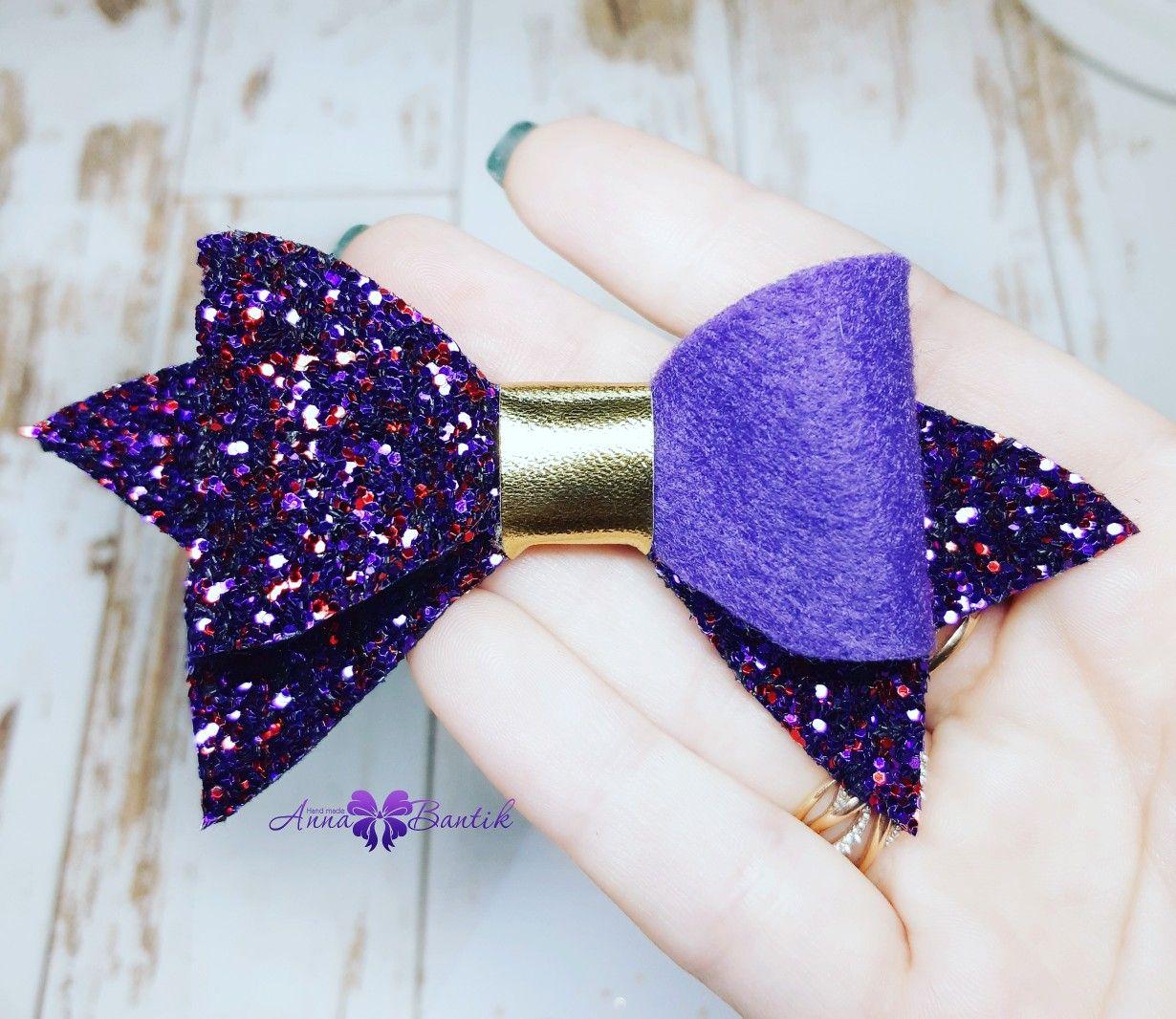 Фиолетовый бант баннерную ткань купить в туле