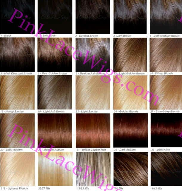 Lace Front Wig Color Chart  Fashion  Hair    Colour