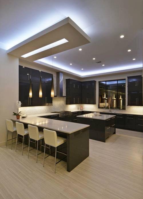 Iluminaci n decoracion pinterest cocinas cocinas modernas y dise o de cocina - Iluminacion para cocinas modernas ...
