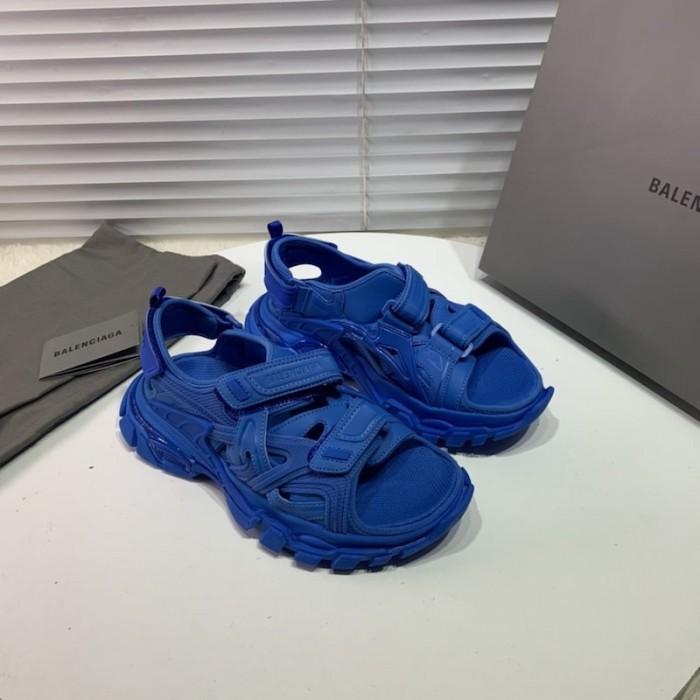Balenciaga Track Sandal Rubber Blue in